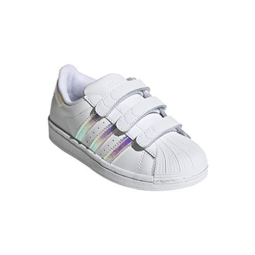 adidas Superstar CF - Zapatillas infantiles, color Blanco, talla 34 EU