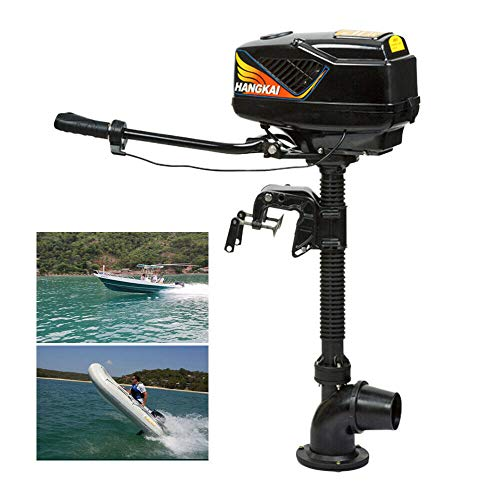 TBVECHI Outboard Motor, 4HP 48V Electric Fishing Boat Engine Outboard Brushless Motor 1000W(4HP 48V 1000W(Jet Pump))