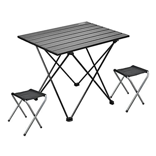 Conjunto De Mesa Y Silla Plegables, (1x Table + 2X Silla) Mesa...
