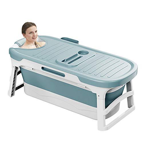 Portable Bathtub for Adults Children and Baby,Uniex Foldable Bathtub Simple Bath Tub Home SPA Bathtub,Easy to Store Plastic Bath Barrel Household Insulation for Baby Adult(53inch)