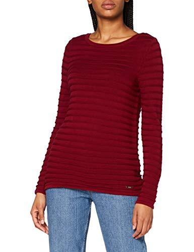 ESPRIT Damen 999EE1I807 Pullover, 600/BORDEAUX RED, XS