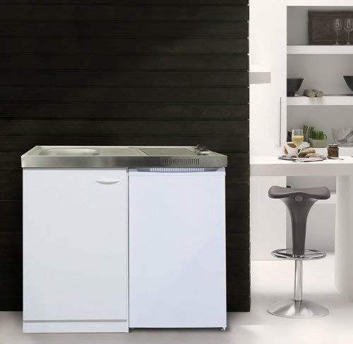 respekta MK100WC mit Glaskeramikkochfeld und Kühlschrank
