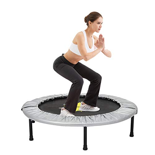Doufit 40'' Trampoline for Kids and Adults, TR-02 Jumping Fitness Rebounder Trampoline for Indoor and Outdoor Exercise Max 220lbs