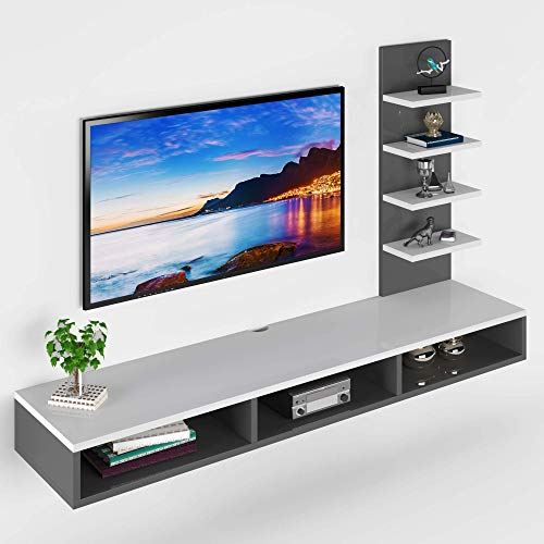 Furnifry Wooden Wall Mounted TV Unit, TV Cabinet for Wall, TV Stand for Wall, TV Stand Unit for Wall...