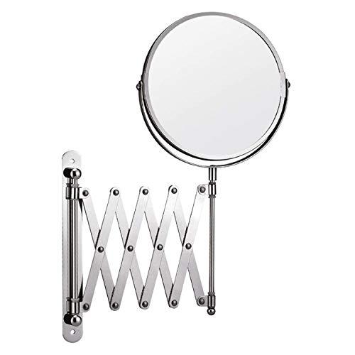 Vidal Regalos Espejo de Baño Extensible Metalico Redondo 16 cm