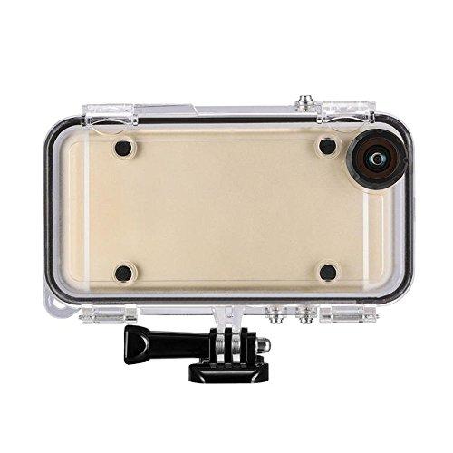 Quarice amp; # 174; Custodia Caso subacuático per iPhone 6Plus/6S Plus Cellulari a Como Fotocamera Sportiva Impermeabile 10m subacquea nero