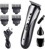El corte de pelo Trimmer Barba máquina de afeitar Kit cortadora de cabello profesional de la maquinilla de afeitar impermeable de múltiples funciones sin hilos recargable barba Trimmer Inicio Set (ada