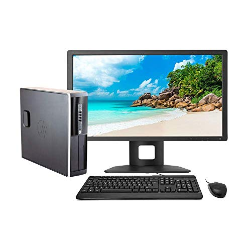 "HP Elite 8300 - Ordenador de sobremesa Completo + TFT 22"" (Intel Core I5-3470, 8GB RAM,Disco HDD 500GB, WiFi, Windows 10 Profesional 64 bits) (Reacondicionado)"