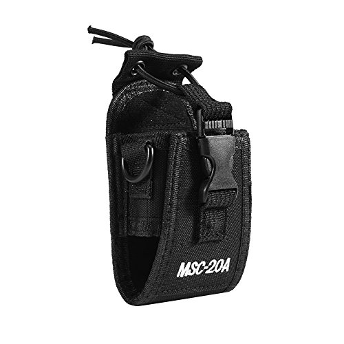 Demeras Interphone Pouch Two Way Radio Walkie Talkie Holster MSC-20A Nylon Pouch Walkie Talkie Bag for Police Fireman Security Guard
