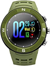 Fitness Tracker Smartwatch F18 GPS Heart Rate Monitor Waterproof Sport Smart Watch for IOS Android With Blood Pressure Green