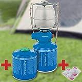 Bricolemar CAMPINGAZ - Kit iluminación Camping Campingaz Kabra (Lampara Lumostar Plus PZ Campingaz + 2 catucho Campingaz CV 300 Plus + Camisa lampara Gas S Campingaz)