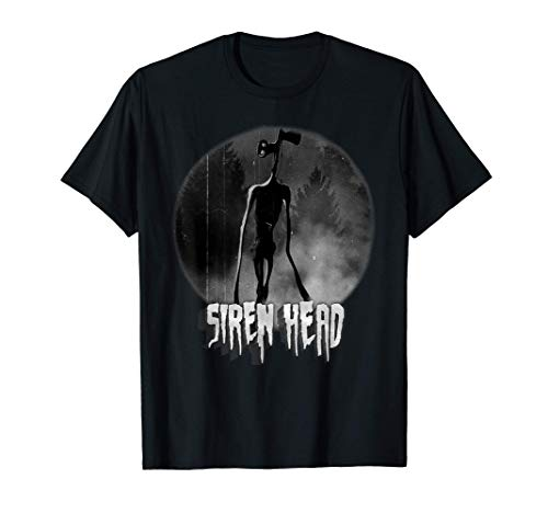 Scary Siren Head vintage meme character Camiseta