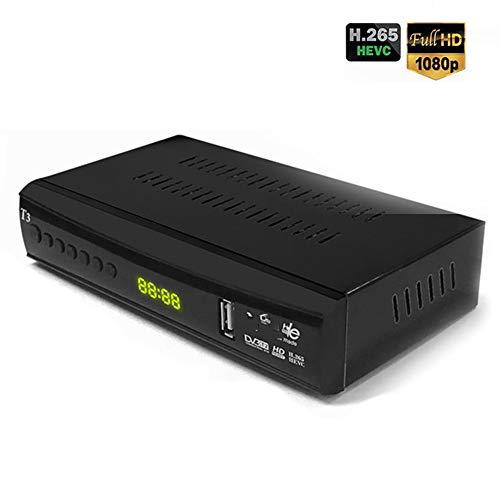 Ashey TDT HD Set Top Box Watch, grabación, reproducción y Pausa TV en Directo en Alta definición 1080P para Viejos y nuevos televisores Soporte Youtube T2 Dolby AC3 HEVC H.265 Receptor de TV Digital