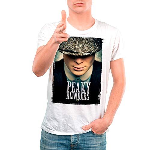 Camiseta Serie Hombre - Unisex Peaky Blinders (Blanco, M)