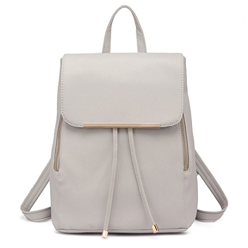 Miss Lulu Ladies Fashion PU Leather Backpack Rucksack Shoulder Bag