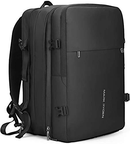 MS MARK RYDEN Zaino per laptop a prova di furto, zaino da lavoro, zaino da viaggio impermeabile, adatto per laptop da 15,6 pollici / 17 pollici per uomini e donne, con caricatore USB, nero