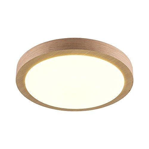 Peaceip Lampe de Plafond moulée en Bois Massif Japonaise Éclairage Simple Moderne Éclairage Simple en Bois (Taille : 28cm)