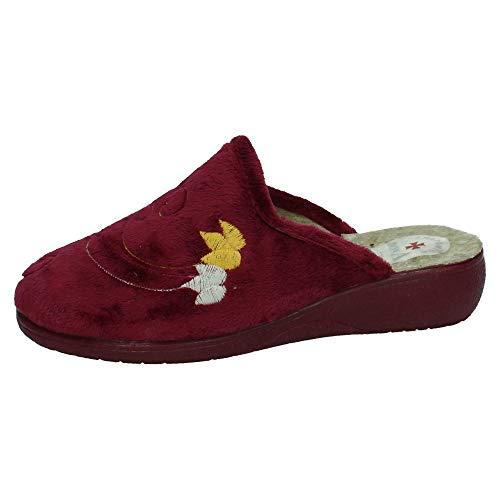 MADE IN SPAIN 6501 Zapatillas Flores Mujer Zapatillas CASA Burdeos 37