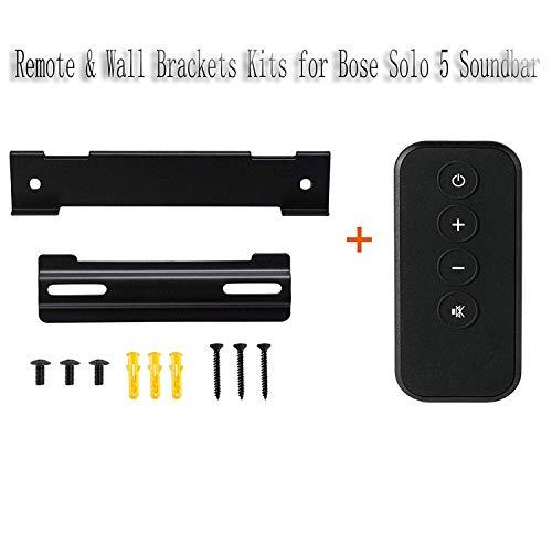 YUHUA ELE Fernbedienung + Lautsprecher Wandhalterung Kompatibel mit Bose Solo 5 Soundbar, Ersatz Fernbedienung Sound System Wandhalter mit Schraube & Wandanker