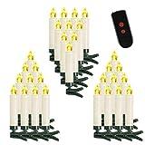 ✅【WEIHNACHTSKERZEN】 10/20/30/40/50/60/100 Sets LED Kerzen, Farbe der Kerzen: Beige. Christbaumkerzen spendet warmweiß Licht. Kerze: ca. 10.5 cm x 1.5 cm( mit Clip ). ✅【KABELLOSE FERNBEDIENUNG】 Über die kabellose infrarote Fernbedienung, Mann kann die...
