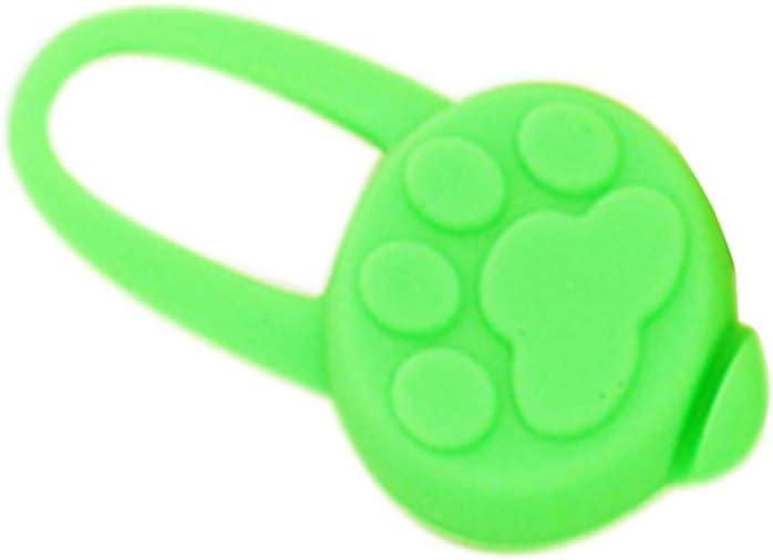 teng hong hui Collar de Caucho de Silicona LED Collar del Animal dom/éstico Noche de Las Luces de Seguridad Luces del Perro del Gato del Gato del Collar de Perro Que Brilla Luminoso Colgante