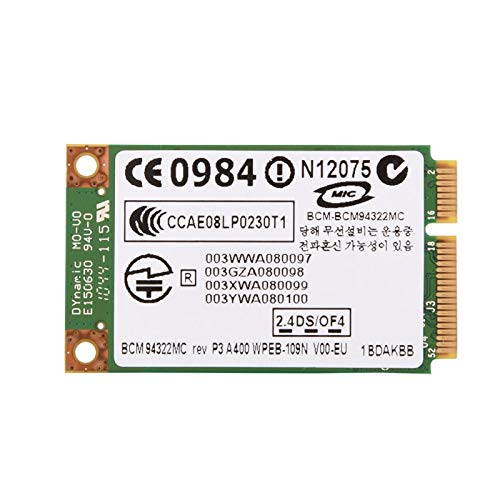 Richer-R Tarjeta de Banda Dual WiFi 2.4G + 5G para Laptop con Ranura Mini PCI-E,Adaptador de Red Inalámbrico para PC HP/Mac/DELL/ASUS/Hedy/TSINGHUATONGFANG,etc.