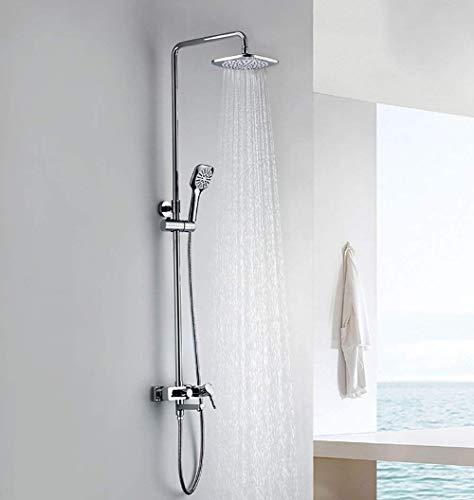 BINGFANG-W Baño de ducha de ducha de acero y ducha de cobre inoxidable ducha ducha ducha 8 pulgadas rectangular rectangular ducha rectangular ducha serie de calentamiento y la batería de agua de agua