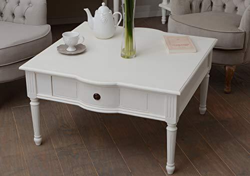 Amadeus - Table Basse 1 tiroir Blanc Agathe