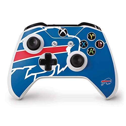 Skinit Decal Gaming Skin Compatible with Xbox One S Controller - Officially Licensed NFL Buffalo Bills Large Logo Design