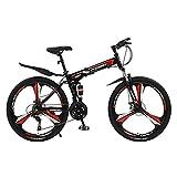 CHHD Bicicleta de montaña Todoterreno para Adultos Bicicleta Plegable de 26/24 Pulgadas con Doble amortiguación, 21 velocidades/24 velocidades/27 velocidades