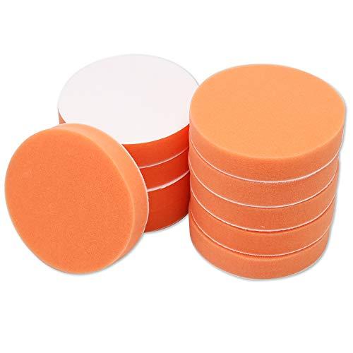 Sensitive スポンジ バフ 10個セット 電動ポリッシャー 洗車用 研磨 ワックスがけ (オレンジ, 125�o)