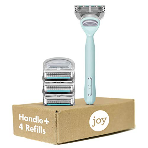 joy Women's Razor Handle + 4 Razor Blade Refills, Teal