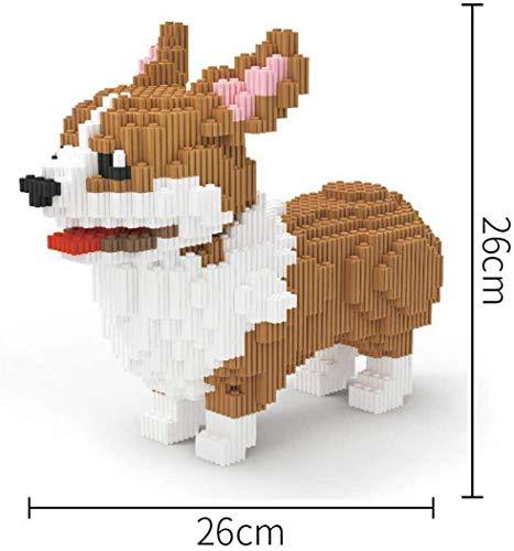 LAL6 Juego De Bloques De Construcción Modelo para Perros - Nano Micro Bloques Diamante DIY Juguetes, Niños Juguetes Educativos para Animales Regalo,A