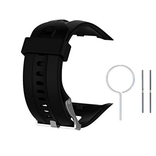 Ersatzarmband für Garmin Forerunner 10/15,Meiruo Fitness Band Armband für Garmin Forerunner 10/Garmin Forerunner 15 (Schwarz, S/Damen Größe)