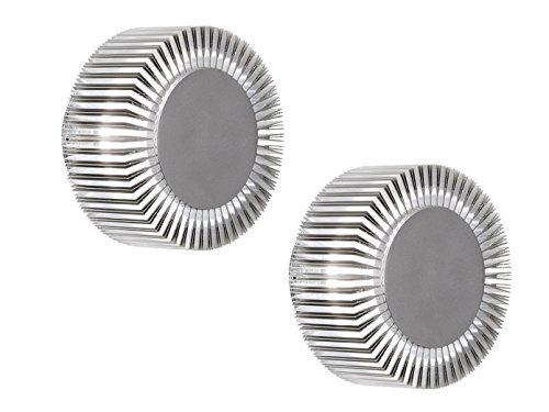 KONSTSMIDE 2er-Set Wandleuchten MONZA für effektvolle Beleuchtung, 5W, IP54, massives Aluminium; 7932-310