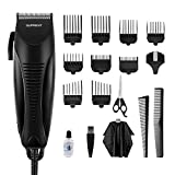 Hair Clippers SUPRENT Corded Professional Hair Clippers for Men, Haircut Kit with 40 Cutting Length, Hair Cutting Kit for Family Use