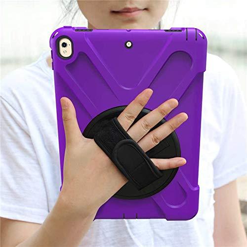 RZL Pad y Tab Fundas para iPad Pro 10.5, New Armor Kids Cover 360 Rotation Hand Strap Silicon PVC A1701 A1709 Funda para iPad Pro 10.5 (Color : Purple)