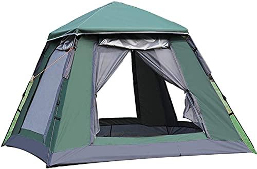 Tiendas de campaña para acampar al aire libre campaña de mochilero, carpa festival plegable, tienda de campaña Pop Up para 3-4 personas, para familia, festival, senderismo, montañismo de mochilero, fá