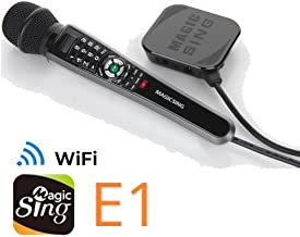 New 2018 MagicSing E-1 Smart Home Karaoke System Microphone Stream 10,000+ English/American Songs · Requires WiFi · Free 2-Month Subscription Code for Tagalog Hindi Korean Spanish Russian