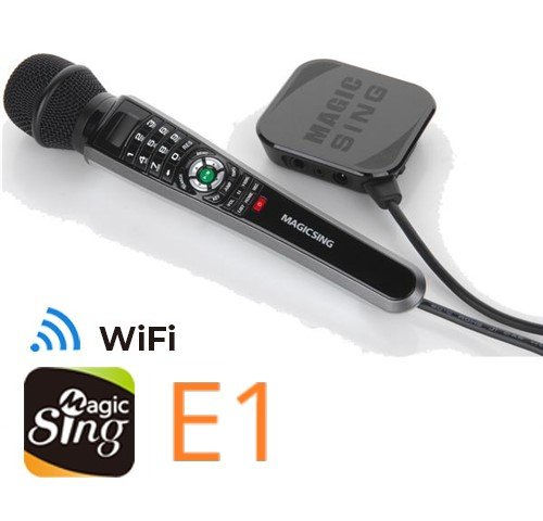 New MagicSing E-1 Smart Home Karaoke System Microphone Stream 10,000+ English/American Songs · Requires WiFi · Free 12-Month Subscription Code for Tagalog Hindi Korean Spanish Russian