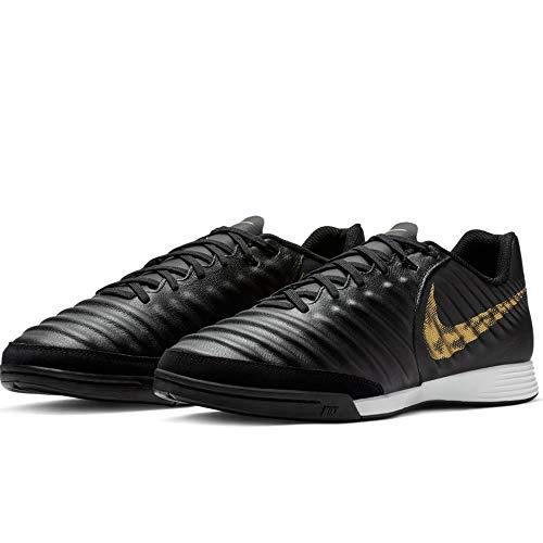 Nike Herren LegendX 7 Academy IC Fußballschuhe, Mehrfarbig (Black/MTLC Vivid Gold 077), 42 EU