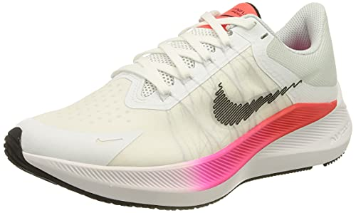 Nike Winflo 8, Zapatillas para Correr Mujer, Blanco White Black Bright Crimson Total Orange, 40 EU