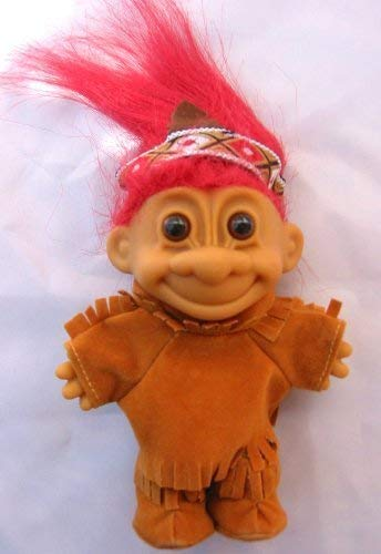 My Lucky Troll Indian Troll Doll (Red Hair) by Russ Berrie