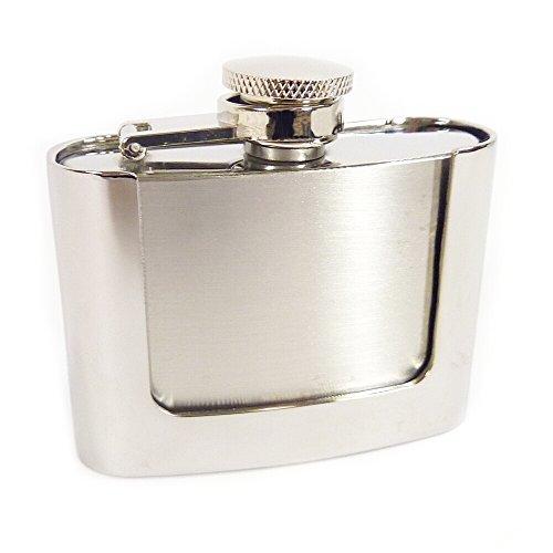 Westernwear-Shop Gürtelschnalle Flask 2oz (60 ml) - Enthält einen gravierbaren Flachmann Gürtelschnalle Gürtelschließe Western Belt Buckle Westerngürtelschnalle Rodeo Vintage Silber