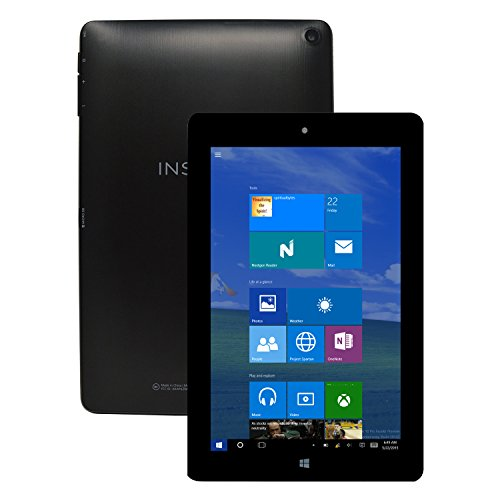"Insignia Flex 8.9"" Full HD IPS Display WiFi Tablet Windows 10 Intel Quad Core 2GB 32GB w/Cams - NS-P89W6100 - Black (Certified Refurbished)"