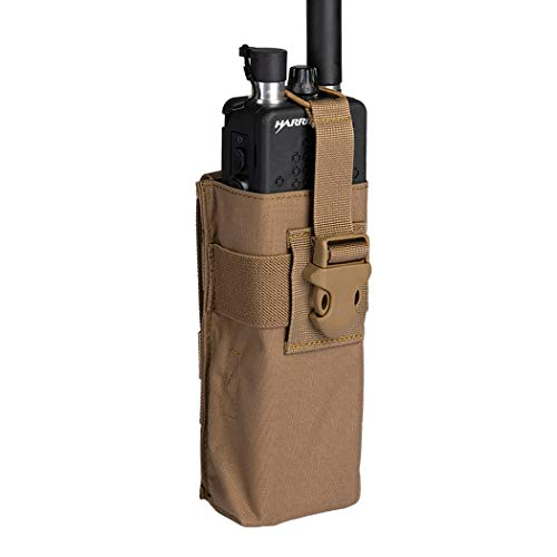 IDOGEAR Tactical Radio Pouch for PRC148/152 Radio Holster Military Interphone Storage MOLLE Pouch Airsoft Hunting 500D Nylon (D:Coyote Brown)