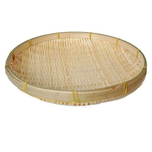 Newfly Handmade Wicker Woven Basket -Handmade Weaving Bamboo, Sieve Bamboo Raft -Round Dustpan DIY Decorative Fruit, Bread, Basket, Kitchen Storage