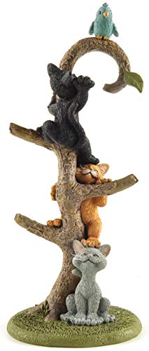 Whimsical Happy Cat Kittens Climbing Tree Ring Stand Holder Figurine - Happy Cat Collection - Cat Lover Gifts for Women  Cat Lover Gifts for Girls  Cute Cat Gifts  Cat Gifts for Cat Lovers