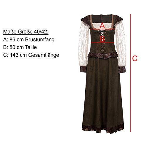 Kostümplanet® Lady Marianne Robin Hood Damen Kostüm Kleid Größe 40/42 - 4