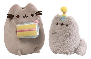 GUND Pusheen and Stormy Birthday Plush Stuffed Animals Collector Gray Set of 2